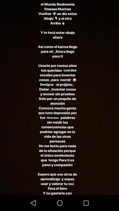 La Desubicada Frase De Michele Carvalho Luego De Que Le Detectaran