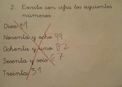 Viral: la respuesta de un nene en un examen de matemáticas